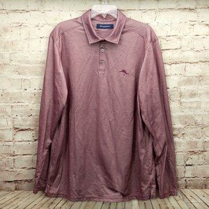 Tommy Bahama Collared Long Sleeve Polo Shirt